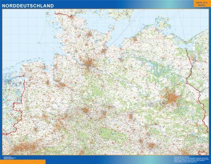Mapa Alemania septentrional
