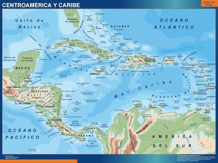 Mapa De Sudamerica Y Centroamerica Debandje
