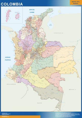 Comprar Mapas Para Colombia Y America Central Del Mundo Mapas Para Colombia Y America Central De Pared Murales