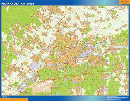 Mapa Frankfurt Am Main En Alemania Plastificado Mapas Para