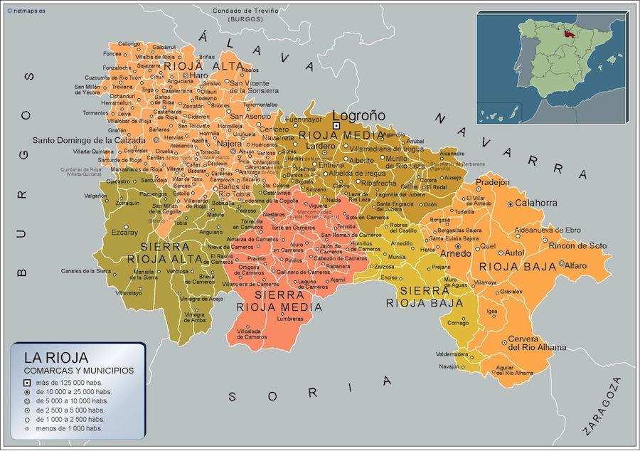 Mapa La Rioja por municipios plastificado | Mapas para Colombia y América  Central de pared murales