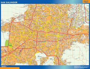 Mapa de San Salvador