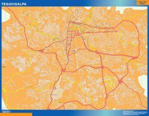 Mapa de Tegucigalpa